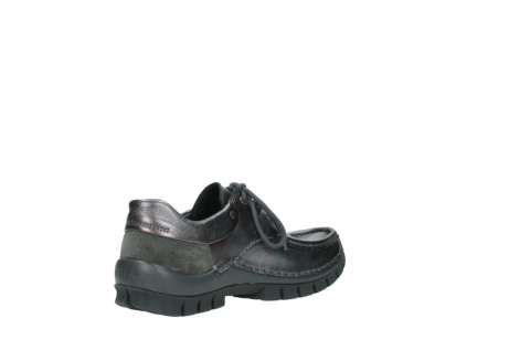 wolky lace up shoes 04726 fly winter 90210 anthracite metallic leather_10