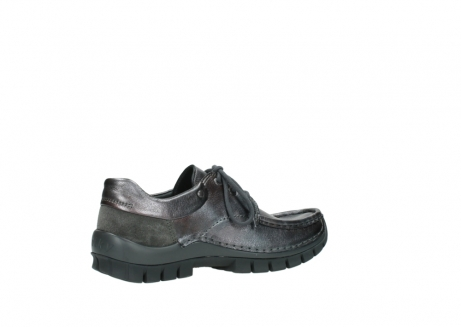 wolky lace up shoes 04726 fly winter 90210 anthracite metallic leather_11