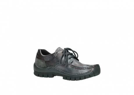 wolky lace up shoes 04726 fly winter 90210 anthracite metallic leather_15