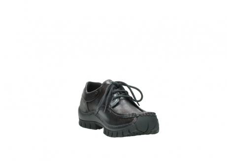 wolky lace up shoes 04726 fly winter 90210 anthracite metallic leather_17