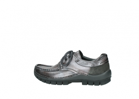 wolky lace up shoes 04726 fly winter 90210 anthracite metallic leather_2