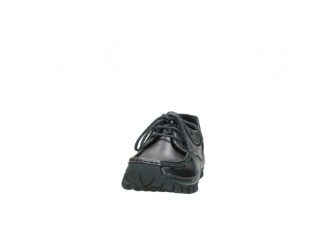 wolky lace up shoes 04726 fly winter 90210 anthracite metallic leather_20