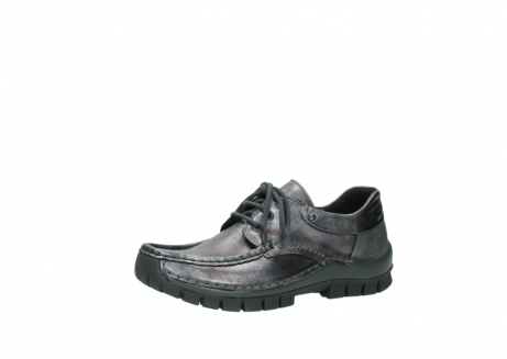 wolky lace up shoes 04726 fly winter 90210 anthracite metallic leather_23