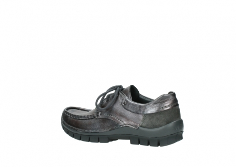 wolky lace up shoes 04726 fly winter 90210 anthracite metallic leather_3