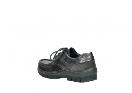 wolky lace up shoes 04726 fly winter 90210 anthracite metallic leather_4
