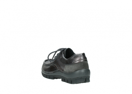 wolky lace up shoes 04726 fly winter 90210 anthracite metallic leather_5
