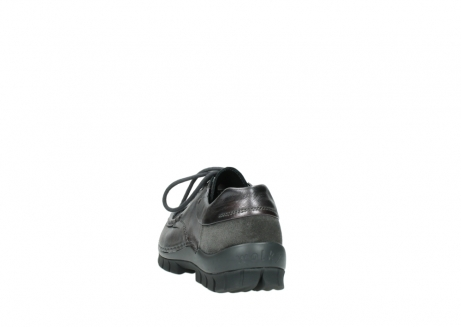 wolky lace up shoes 04726 fly winter 90210 anthracite metallic leather_6