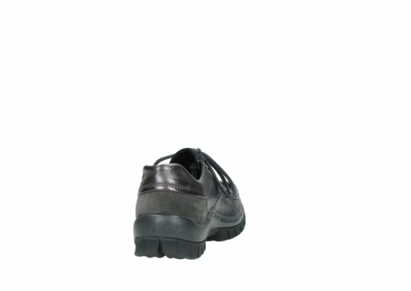 wolky lace up shoes 04726 fly winter 90210 anthracite metallic leather_8