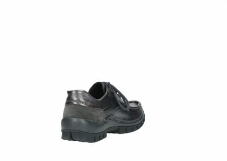 wolky lace up shoes 04726 fly winter 90210 anthracite metallic leather_9