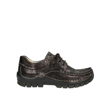 wolky veterschoenen 04726 fly winter 90300 bruin craquele leer