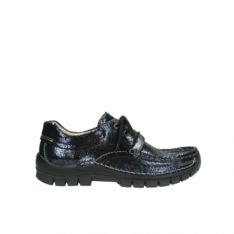 wolky lace up shoes 04726 fly winter 90800 dark blue craquele leather