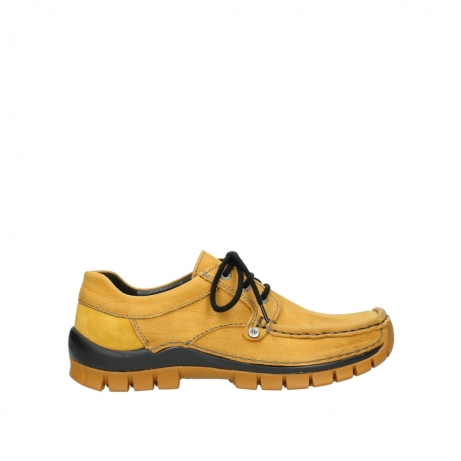 wolky chaussures a lacets 04734 seamy fly winter 11932 nubuck jaune