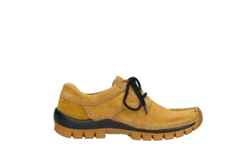wolky chaussures a lacets 04734 seamy fly winter 11932 nubuck jaune_13