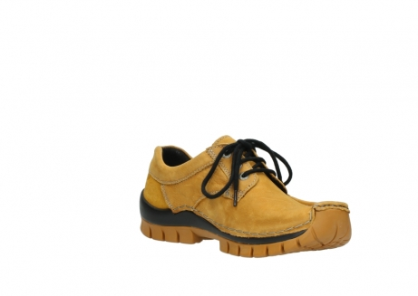 wolky chaussures a lacets 04734 seamy fly winter 11932 nubuck jaune_16