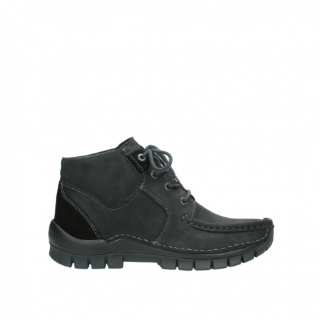 wolky veterschoenen 04735 seamy cross up 10000 zwart nubuck