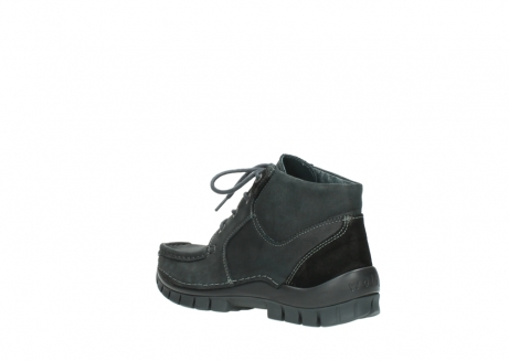 wolky veterschoenen 04735 seamy cross up 10000 zwart nubuck_4