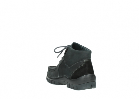 wolky veterschoenen 04735 seamy cross up 10000 zwart nubuck_5
