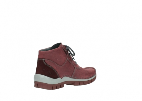 wolky lace up shoes 04735 seamy cross up 10510 burgundy nubuck_10