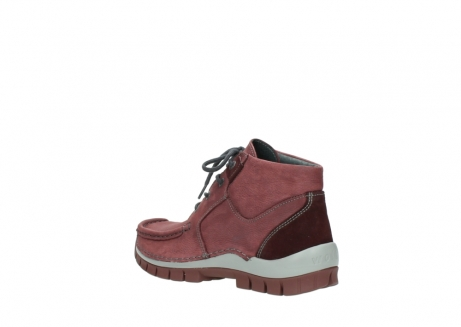 wolky lace up shoes 04735 seamy cross up 10510 burgundy nubuck_4