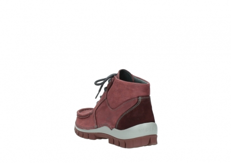 wolky lace up shoes 04735 seamy cross up 10510 burgundy nubuck_5