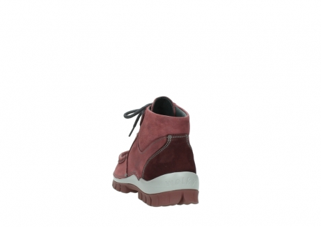 wolky lace up shoes 04735 seamy cross up 10510 burgundy nubuck_6