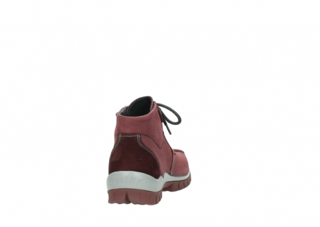 wolky lace up shoes 04735 seamy cross up 10510 burgundy nubuck_8