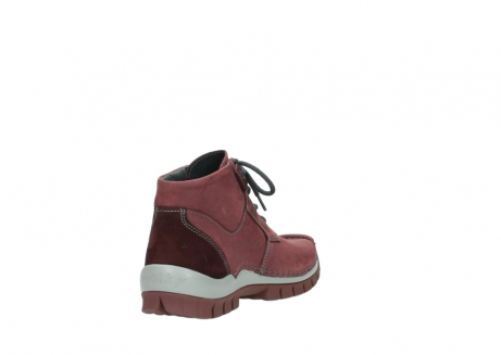 wolky lace up shoes 04735 seamy cross up 10510 burgundy nubuck_9