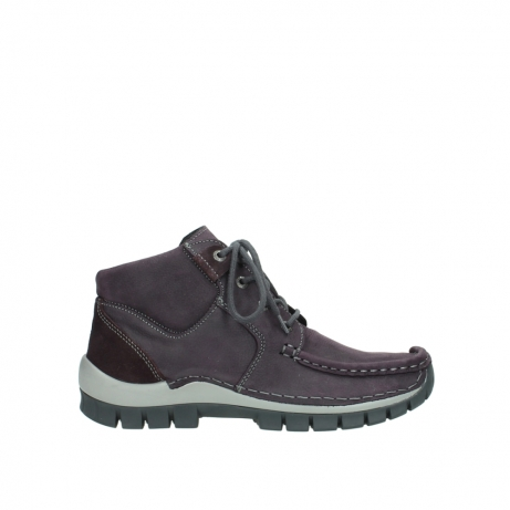 wolky veterschoenen 04735 seamy cross up 10600 paars nubuck