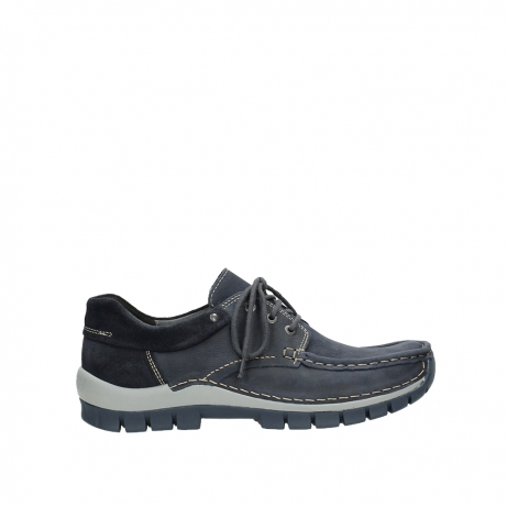 wolky veterschoenen 04750 fly men 11802 blauw geolied nubuck