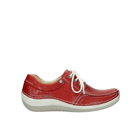 wolky chaussures a lacets 04800 coral 20570 cuir rouge