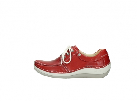 wolky chaussures a lacets 04800 coral 20570 cuir rouge_1