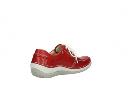 wolky chaussures a lacets 04800 coral 20570 cuir rouge_10