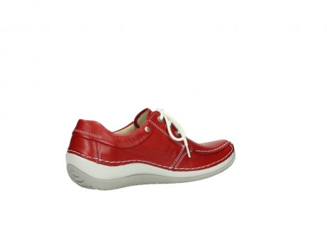 wolky chaussures a lacets 04800 coral 20570 cuir rouge_11