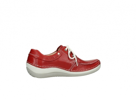 wolky chaussures a lacets 04800 coral 20570 cuir rouge_12