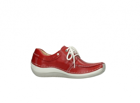 wolky chaussures a lacets 04800 coral 20570 cuir rouge_14