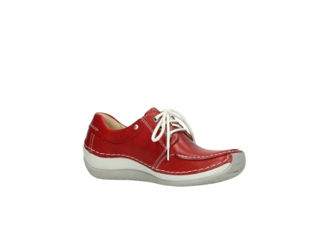 wolky chaussures a lacets 04800 coral 20570 cuir rouge_15