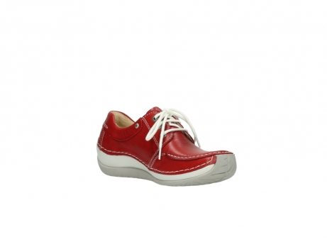 wolky chaussures a lacets 04800 coral 20570 cuir rouge_16