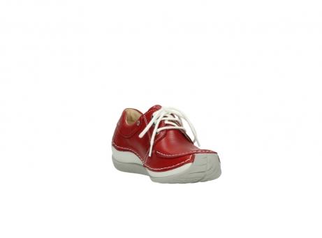 wolky chaussures a lacets 04800 coral 20570 cuir rouge_17