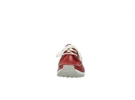 wolky lace up shoes 04800 coral 20570 red leather_19
