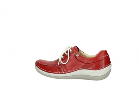wolky lace up shoes 04800 coral 20570 red leather_2