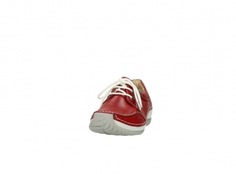wolky lace up shoes 04800 coral 20570 red leather_20
