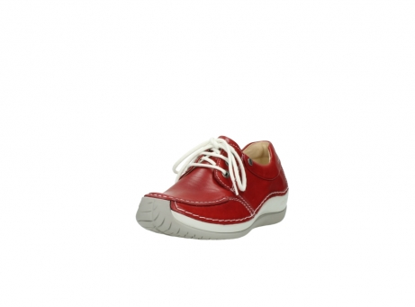wolky lace up shoes 04800 coral 20570 red leather_21