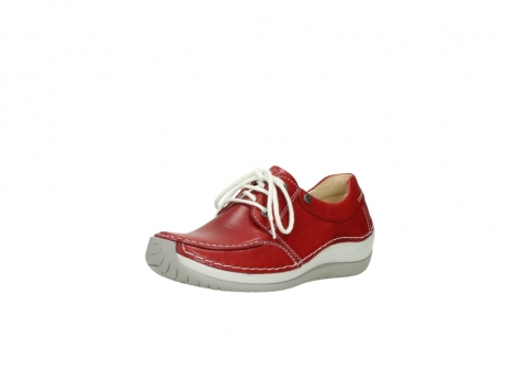 wolky chaussures a lacets 04800 coral 20570 cuir rouge_22