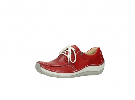 wolky lace up shoes 04800 coral 20570 red leather_23