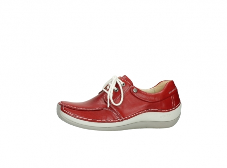 wolky chaussures a lacets 04800 coral 20570 cuir rouge_24