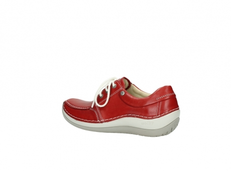 wolky lace up shoes 04800 coral 20570 red leather_3