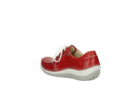 wolky chaussures a lacets 04800 coral 20570 cuir rouge_4