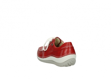 wolky lace up shoes 04800 coral 20570 red leather_5