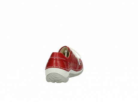 wolky lace up shoes 04800 coral 20570 red leather_8