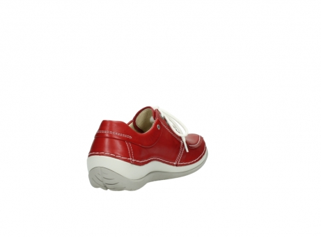 wolky chaussures a lacets 04800 coral 20570 cuir rouge_9